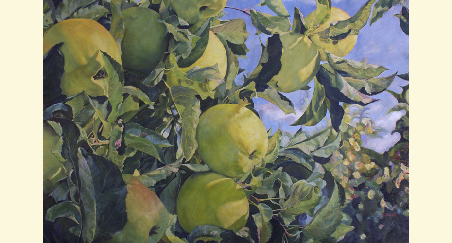 AN APPLE A DAY   40″ X 60″